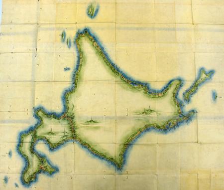 伊能忠敬が作成した日本地図の北海道部分